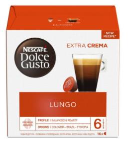 Стоимость Кофе в капсулах NESCAFE Dolce Gusto Lungo (16 шт)