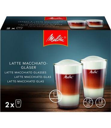 Цена Комплект стаканов Melitta LATTE MACCHIATO 300 мл (2 шт.)