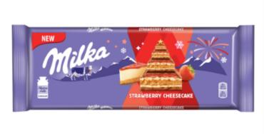Шоколад Milka Strawberry Cheesecake 300 г