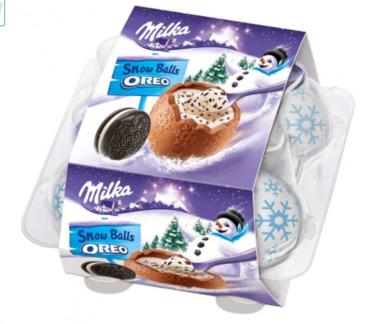 Шоколадные шарики Milka Snowballs Oreo