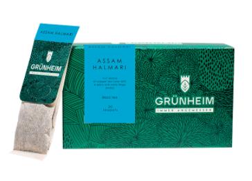 Чай черный пакетированный Grunheim Assam Halmari 20 шт