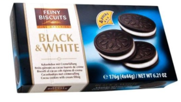 Печенье Feiny Biscuits Black & White 176 г
