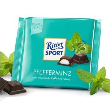 Шоколад черный Ritter Sport  с мятной начинкой 100 г