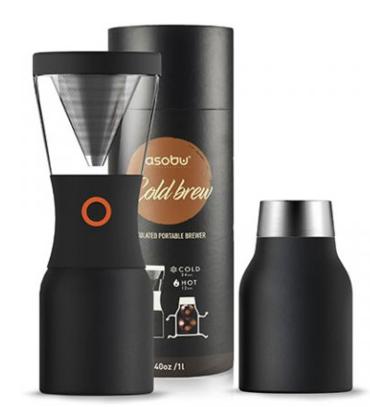 Кофеварка портативная Cold Brew Coffee 1,1л (KB900 BLACK)