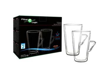 Цена Набор стаканов Filter Logic CFL-675 LATTE 400 мл с ручкой (2 шт)