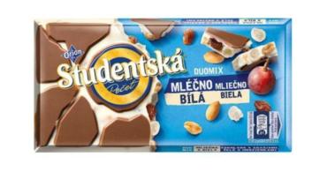 Шоколад Studentska бело-молочный с арахисом и изюмом 180 г