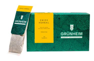 Чай травяной пакетированный Grunheim Swiss Herbal 20 шт