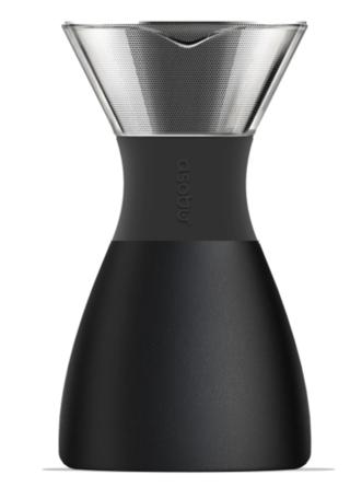 Набор для заваривания кофе Asobu Pour Over 1 л с термосом Черный (PO300 BLACK/BLACK)