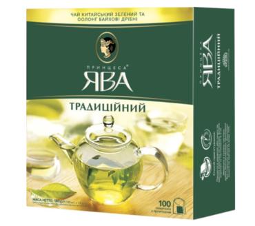 Чай зеленый пакетированный Принцесса Ява Традиционный (100 х 1.8 г)