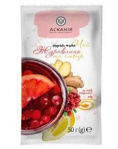 """Чай-сашет Аскания """"Клюква и имбирь"""" 50 г"""